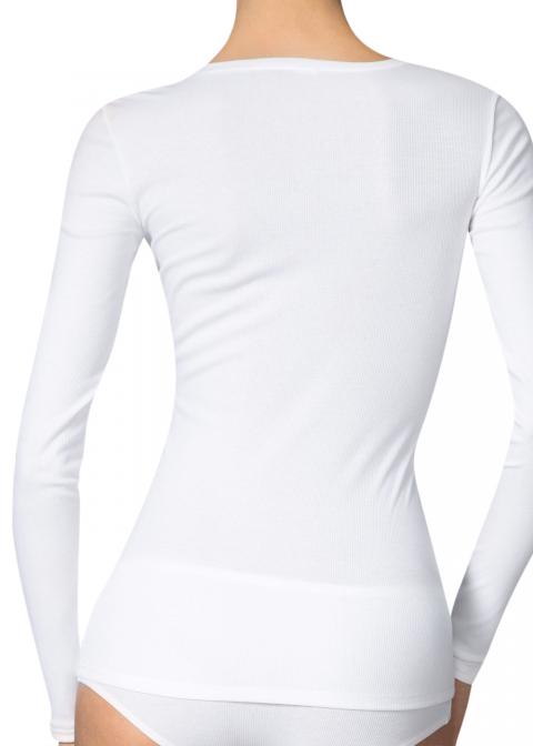 Tee-shirt Manches Longues Calida Blanc