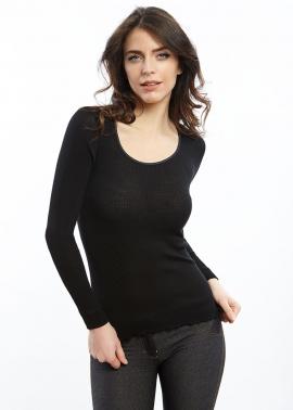 Tee-shirt Manches Longues Plissé Oscalito