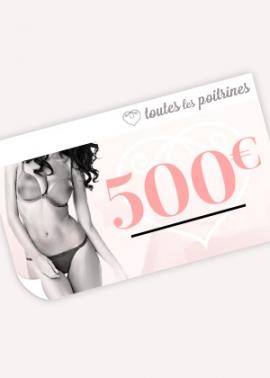 Chèque cadeau 500 euros