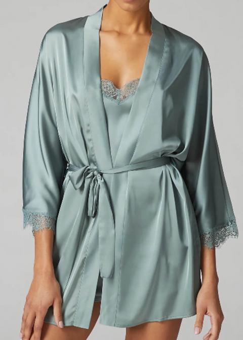 Kimono Simone Pérèle Vert Velours