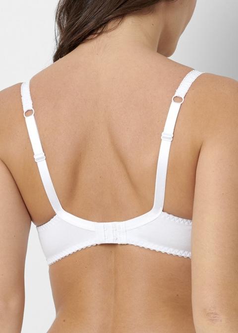 Soutien-gorge Sans Armatures Coton Sans Complexe Blanc