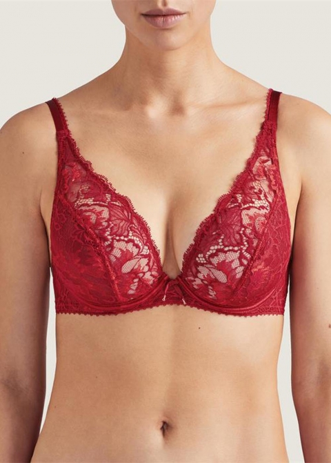 Soutien-gorge Triangle Plunge Aubade Rouge Amour