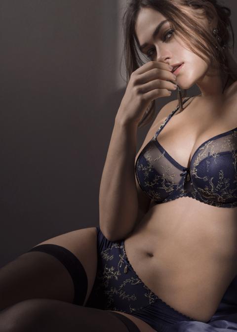 Soutien-gorge Rembourré Bonnets Profonds Prima Donna Bleu Bijou