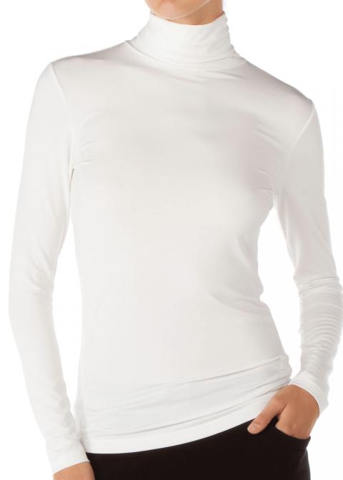 Tee-shirt Col Roulé Calida Blanc