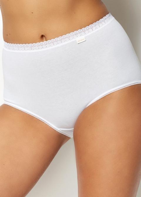 Lot de 2 Culottes Sans Complexe Blanc/Blanc