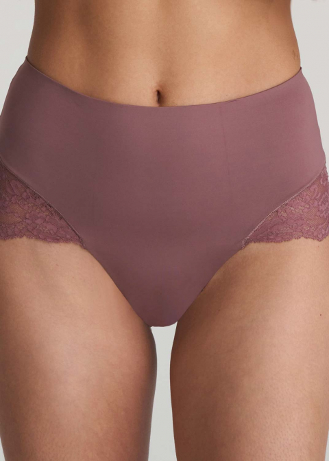 Slip Taille Haute Gainant Marie-Jo Satin Taupe