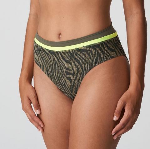 Slip Taille Haute Maillots de Bain Prima Donna Swim Fluo Jungle