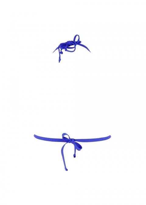 Soutien-gorge Triangle Coques Maillots de Bain Antigel  Santa Bleu
