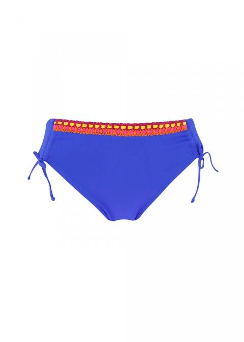 Slip Lacets Maillots de Bain Antigel  Santa Bleu