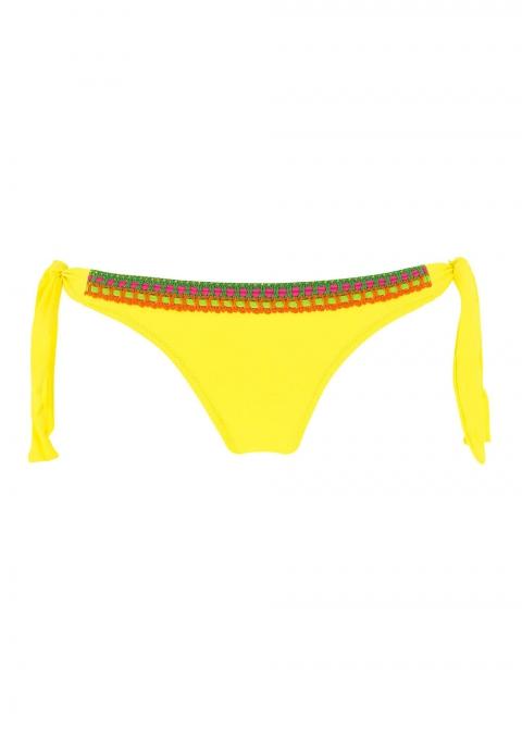 Slip Bikini Maillots de Bain Antigel  Santa Jaune