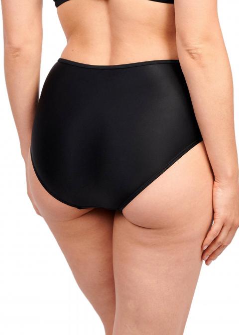 Culotte Taille Haute Maillots de Bain Sans Complexe Noir