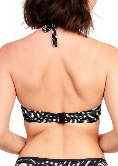 Soutien-gorge Triangle avec Armatures Maillots de Bain Sans Complexe Noir Blanc