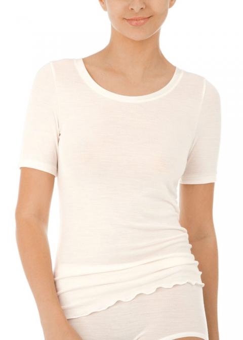 Tee-shirt Manches Courtes Calida Cream White