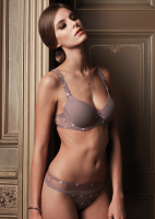 Chantilly Taupe lingerie 2640